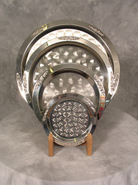 SS Round Serving Trays