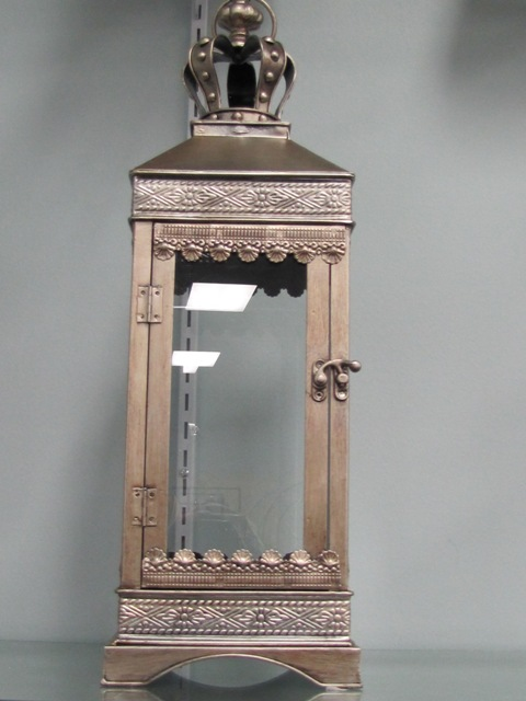 Crowned Square silver/bronze Lantern $10