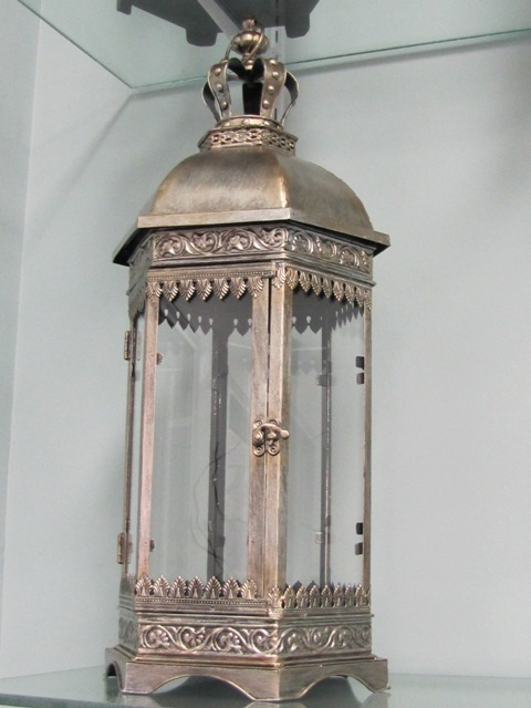 Crowned Octagon silver/bronze Lantern $10