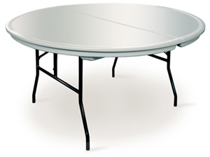 5′ Round Table $10