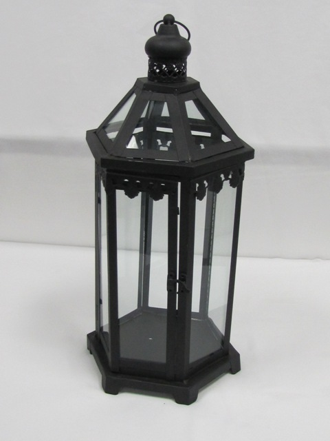 Black Octagon Lantern  $10