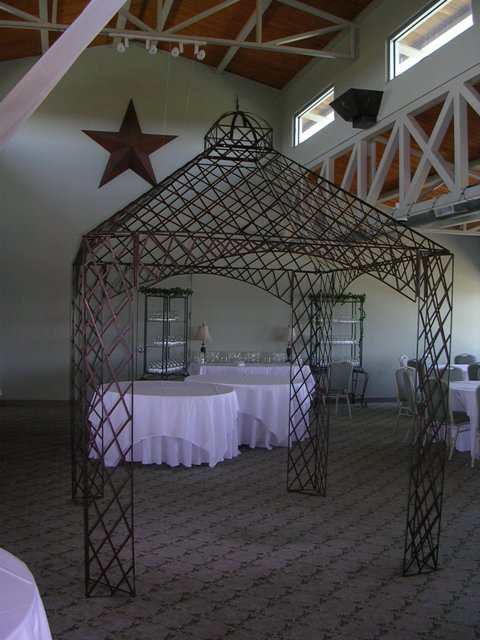 Metal Gazebo w/Roof $100