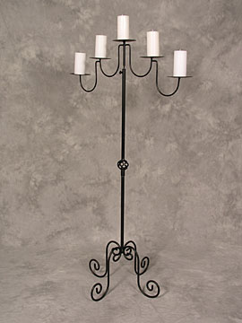 Wrought Iron Candelabra $16