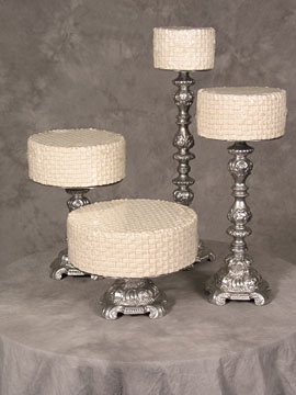 Silver Ornate Cake Stands $11 any size