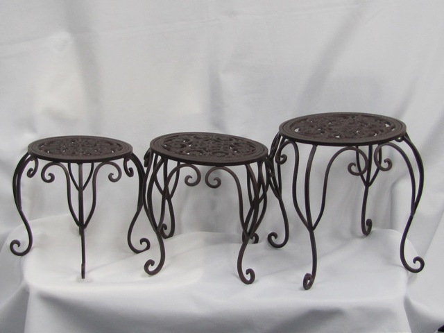 Rustic Footstool Stands