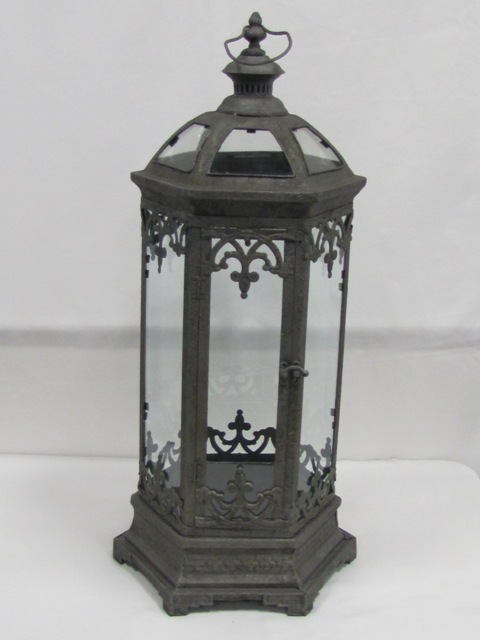 Octagon Gun Metal Gray Lantern  $10