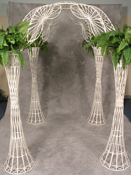 White Wicker Gazebo $42