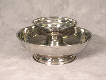 Chip & Dip Silver Bowl $8