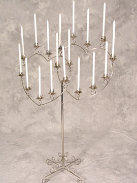 Double Heart Candelabra $16