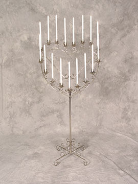 Single Heart Candelabra $16