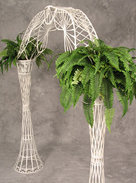 White Wicker Arch $26
