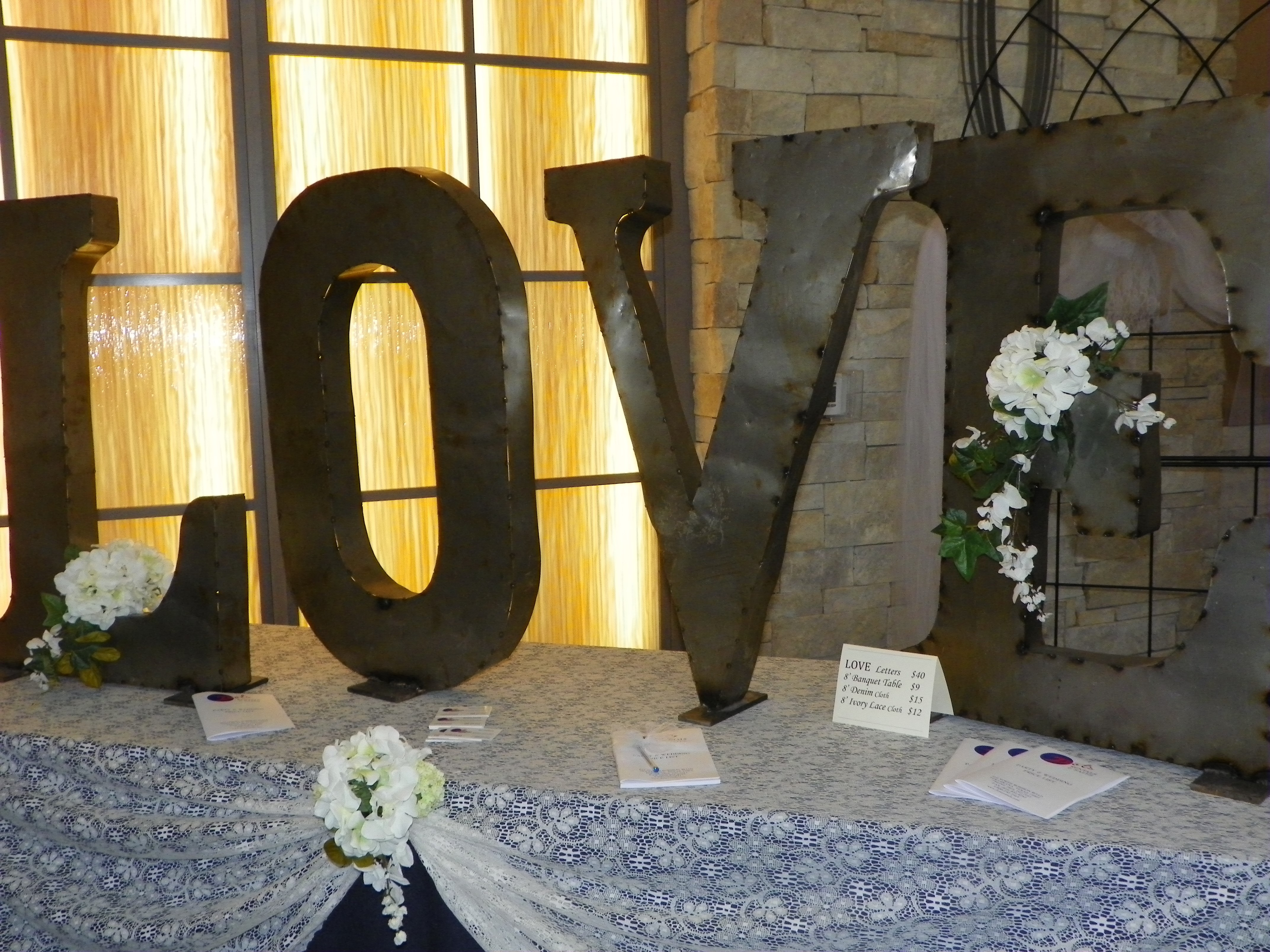 LOVE 3' letters $40