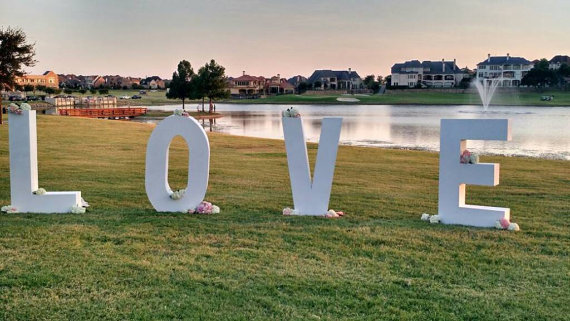 LOVE 5' letters $150